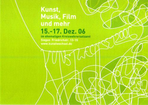 Kunstwechsel 2006 im ehem. Kreiswehrersatzamt Siegen