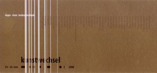 Kunstwechsel 2000 in der ehem. Landeszentralbank in Siegen