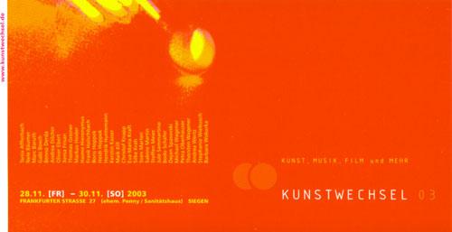 Kunstwechsel 2003 im ehemaligen PENNY Siegen