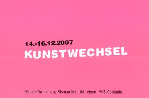 Kunstwechsel 2007 im ehem. VHS Gebäude Weidenau