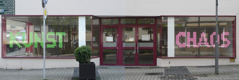 Fenster Kunstchaos zum Siegener Kunsttag 2012