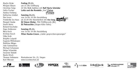 KUNSTWECHSEL 2012 Einladung Rückseite