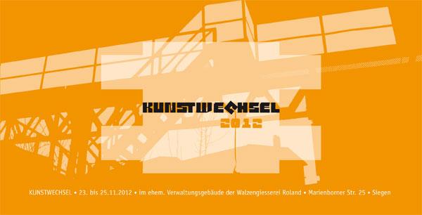 kunstwechsel 2012 Einladungskarte