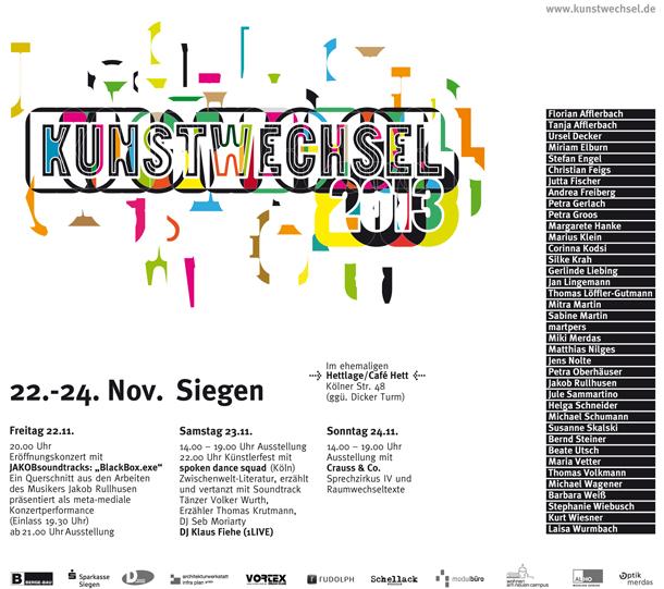 Kunstwechsel 2013 in Siegen, im ehemaligen Cafe Hett