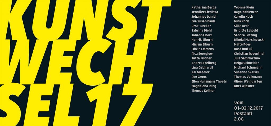 Kunstwechsel 2017 Einladungskarte
