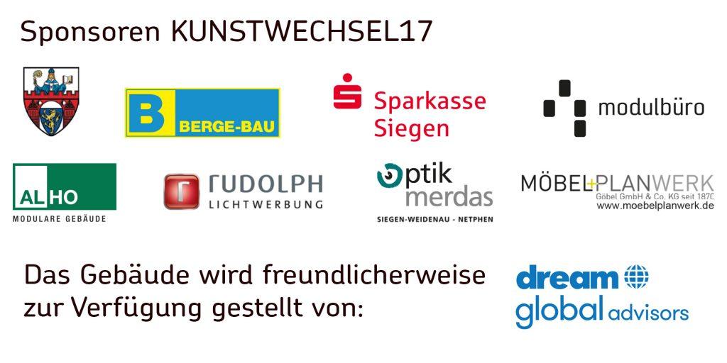 Kunstwechsel 2017 Sponsoren